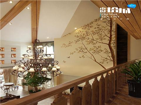 田园 三居 白领 小资 楼梯图片来自湖南美迪装饰在花木意的分享