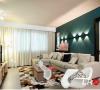 南城都汇110㎡现代风格装饰客厅效果图