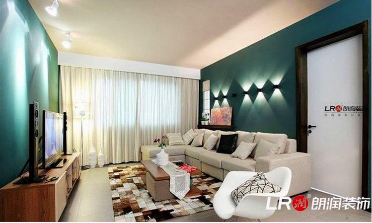 简约 三居 白领 小资 80后 客厅图片来自朗润装饰工程有限公司在南城都汇110现代风格装饰效果图的分享