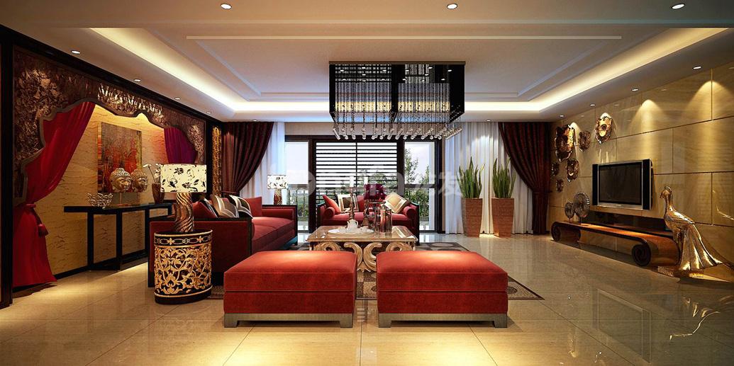 简约 欧式 三居 别墅 白领 收纳 旧房改造 80后 小资 客厅图片来自西安龙发装饰在中海铂宫原创设计分享的分享