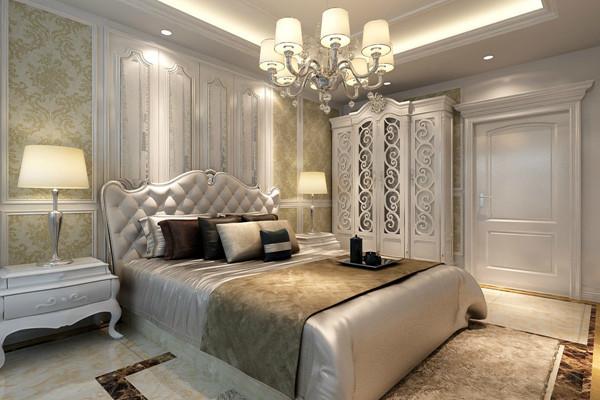 卧室图片来自西安龙发装饰在古典和现代的双层审美效果的分享