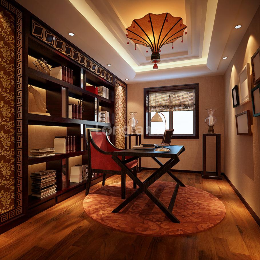 简约 欧式 三居 别墅 白领 收纳 旧房改造 80后 小资 书房图片来自西安龙发装饰在中海铂宫原创设计分享的分享