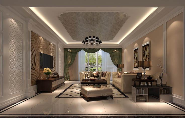 新中式 客厅图片来自高度国际宋书培在东亚首航国际四居室装饰效果图的分享