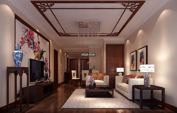 新中式 客厅图片来自高度国际宋书培在春晖园·随园两居室装饰效果图的分享
