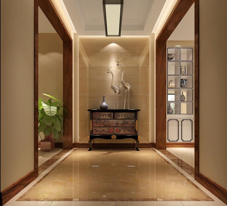 简约 欧式 田园 混搭 三居 白领 新中式 装修 房子 玄关图片来自高度国际装饰王伟在【西山壹号院】三室二厅新中式的分享