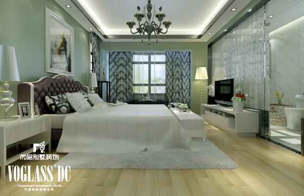 别墅 卧室图片来自天津尚层装修韩政在175㎡联排别墅新中式的分享