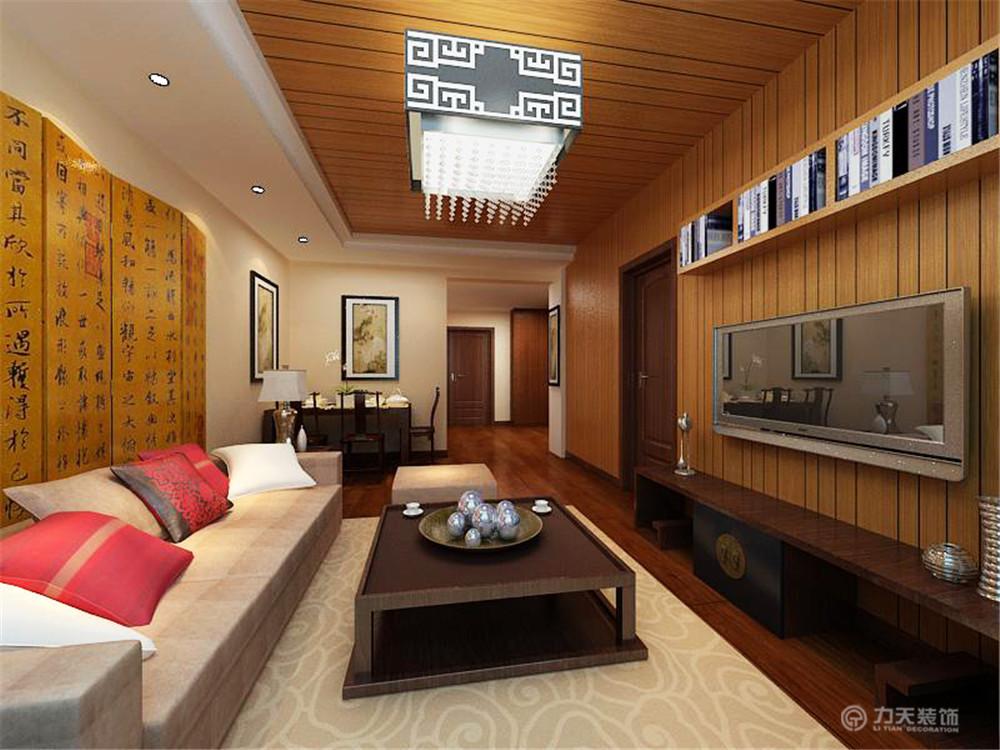 中式 二居 白领 收纳 80后 小资 客厅图片来自阳光力天装饰在御玺园-93㎡-中式风格的分享