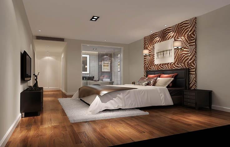 极简 卧室图片来自高度国际宋书培在合景领峰三居室装饰效果图的分享