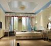 主卧室用田园配饰与田园式家具来打造优雅细腻的休息空间!整个房子的设计,达到整体中有细节,细节中体现整体!