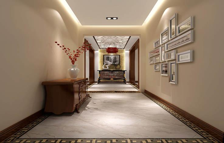 新中式 玄关图片来自高度国际宋书培在京汉铂寓 三居室装饰效果图的分享