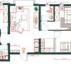 本案为三室一厅户型,房子的格局适宜四口之家居住,整体的规划也非常合理,通风和采光度也不错,唯一不足的是门厅占据了大厅一半的面积,导致客厅面积过于狭小,没有餐厅