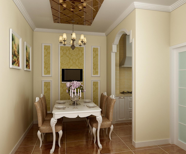 欧式 混搭 白领 收纳 餐厅图片来自合肥实创装饰李东风在小户型也可以装修欧式的分享