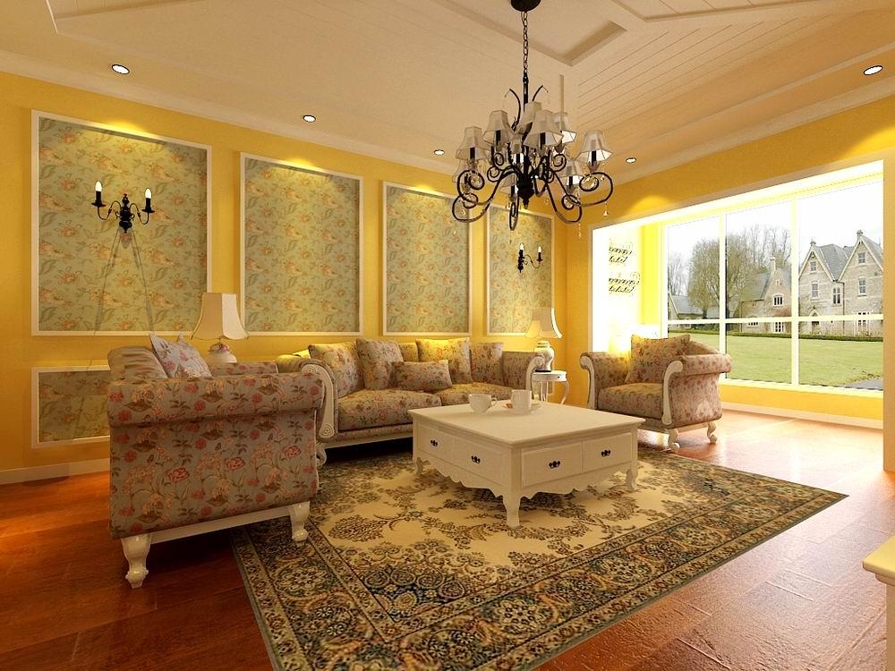 田园 三居 别墅 白领 收纳 旧房改造 80后 小资 客厅图片来自阳光力天装饰梦想家更爱家在奥林匹克花园137.5㎡的分享