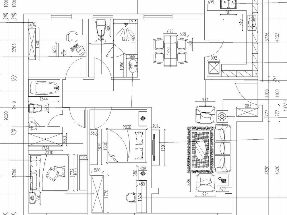 田园 三居 别墅 白领 收纳 旧房改造 80后 小资 户型图图片来自阳光力天装饰梦想家更爱家在奥林匹克花园137.5㎡的分享