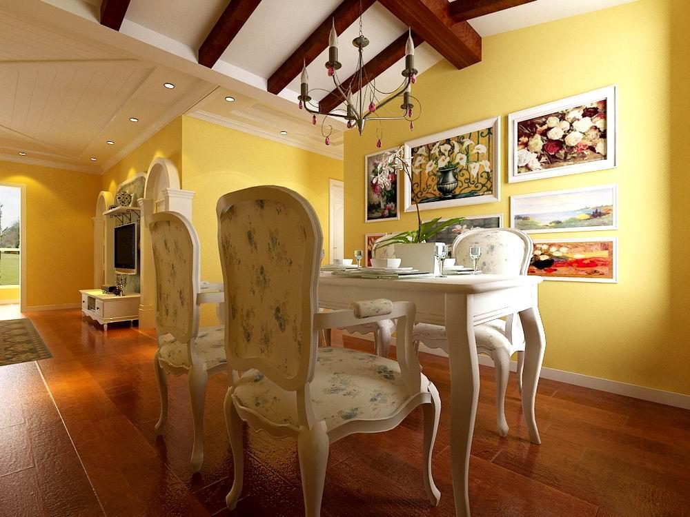 田园 三居 别墅 白领 收纳 旧房改造 80后 小资 餐厅图片来自阳光力天装饰梦想家更爱家在奥林匹克花园137.5㎡的分享