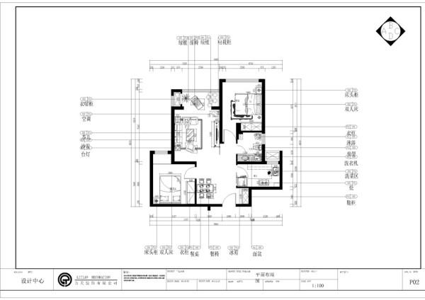 """本案为东壹区户型图两室两厅一厨一卫70㎡的户型。这次的设计风格定义为""""简欧风格"""""""