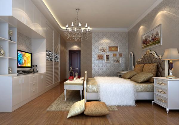 设计理念:集成式衣柜美观实用,统一的色彩基调装饰空间,营造简单舒适的温馨空间。