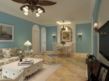 110平地中海的浪漫婚房