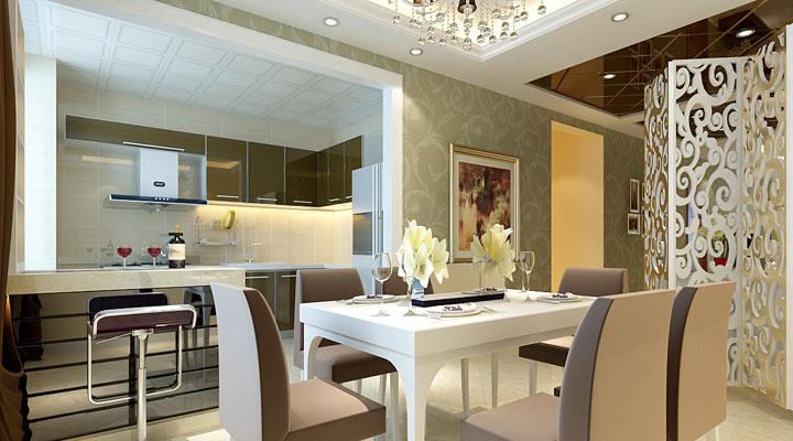 简约 三居 白领 餐厅图片来自亚光亚装饰神设手小美在润枫领尚的分享