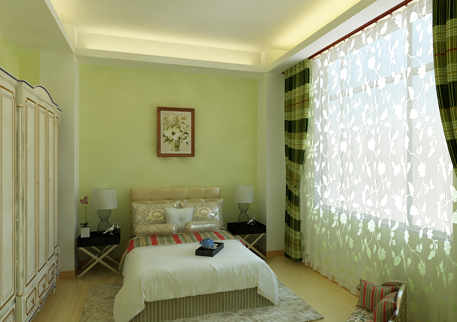 简约 三居 卧室图片来自百家装饰小王在奥园国际城110平的分享