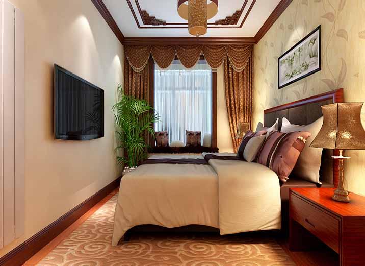 大户型 四居 新中式 卧室图片来自实创装饰晶晶在大华诺斐湾160平新中式三口之家的分享