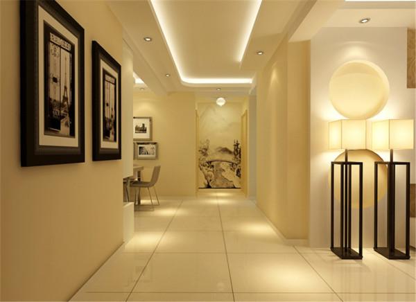 客厅的大地砖铺装,与整个风格浑然一体,作为空间的分隔.壁纸、绿可木与石膏板是整个设计的主要材料,这些材料的相互协调性非常好,又能体现各种风格的不同特点,既丰富又统一