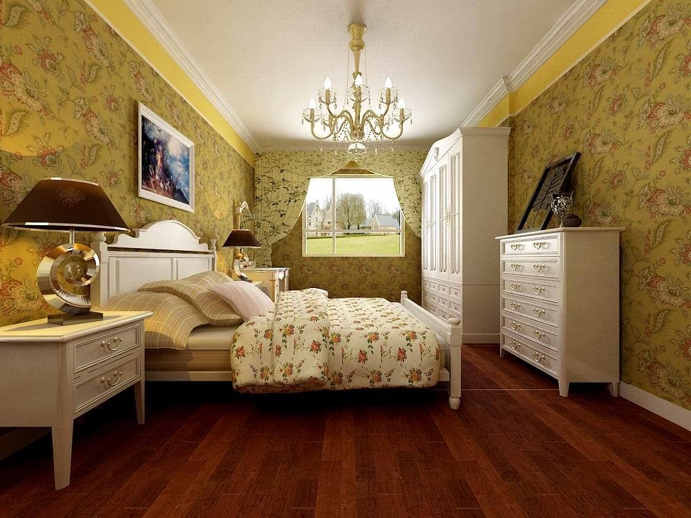 卧室图片来自阳光放扉er在奥林匹克花园-137.5㎡-田园风格的分享