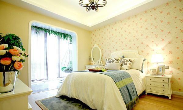 卧室图片来自家装E站重庆体验店在韩式清新田园风,温馨爆棚!的分享