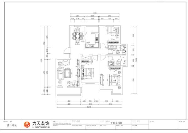 美式乡村 天房彩郡新尚园三室两厅一厨两卫140.27平米