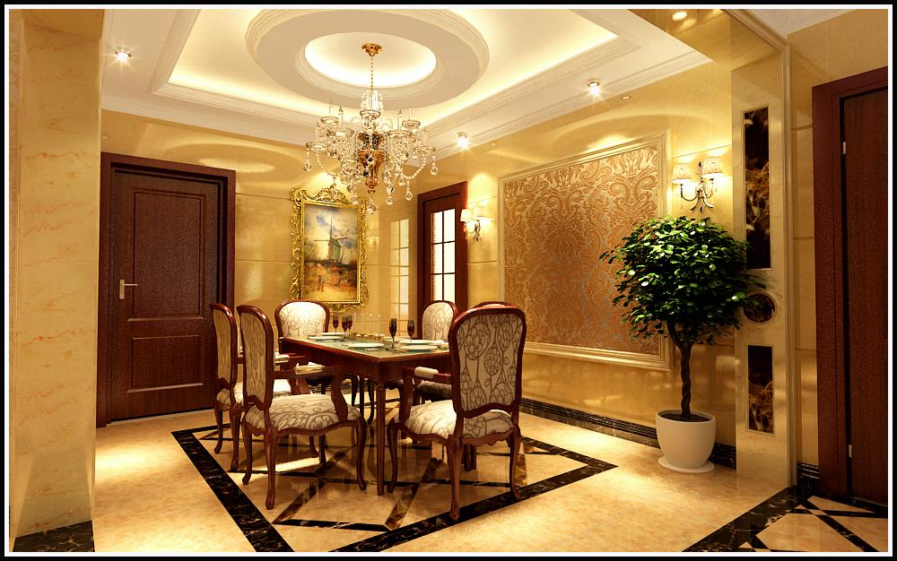 天山新公爵 欧式 餐厅图片来自石家庄业之峰装饰虎子在天山新公爵220平米欧式风格案例的分享