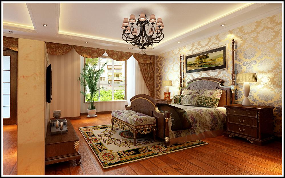 天山新公爵 欧式 卧室图片来自石家庄业之峰装饰虎子在天山新公爵220平米欧式风格案例的分享