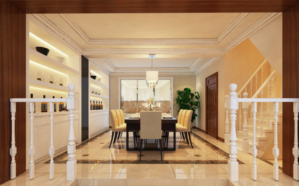简洁大气的现代餐厅 设计理念:营造愉悦的就餐环境对于餐厅的设计来说至关重要,合理的运用材质以及灯光,打造符合业主内心向往的生活方式。