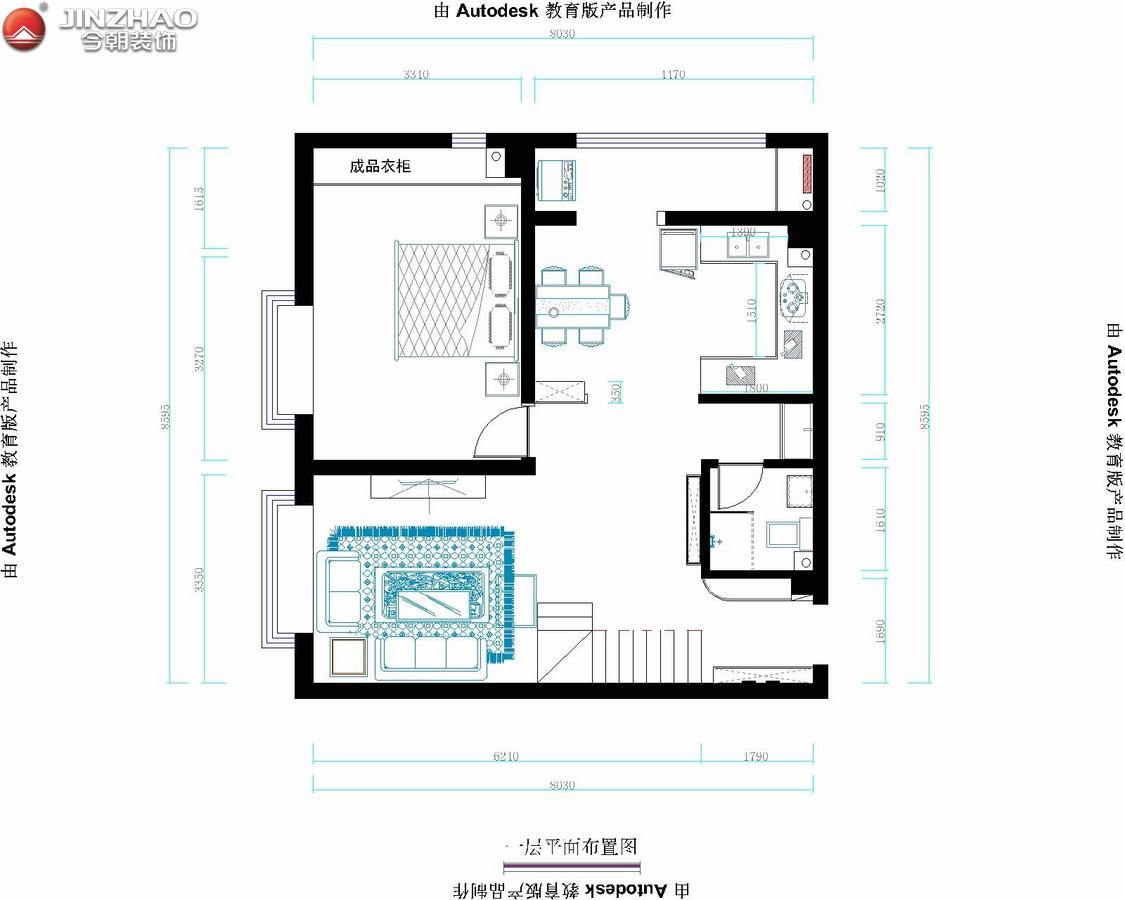 三居 户型图图片来自152xxxx4841在A+5米4复式160平的分享