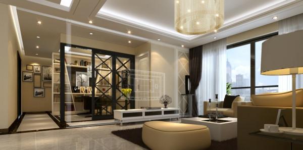 水晶吊顶,低调而奢华。强调了气韵与质感及浪漫的柔性美,融合新古典与现代、新颖、高科技的技术手法,彰显其气势与唯美的氛围,并在繁复中体会浪漫与幽雅。