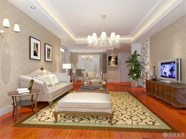 沙发采用白色和红木搭配,整体更加和谐和富有生机。
