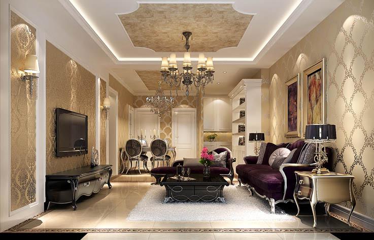 奢华 客厅图片来自高度国际宋书培在爱晚大爱城三居室装饰效果图的分享