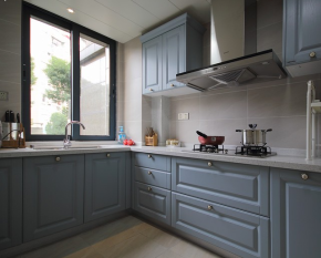 简约 美式 三居 温馨 舒适 厨房图片来自成都生活家装饰在90㎡简约美式风格三居室的分享