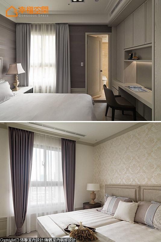 卧房都铺设实木层有300条厚的海岛型木地板,增加足部接触地板的舒适度。