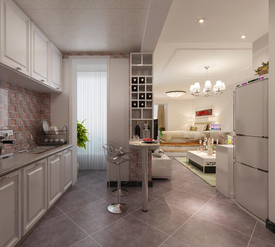 一居 白领 小资 保利花园 城市人家 厨房图片来自城市人家李浩然在保利花园3号楼1单元55平户型展示的分享