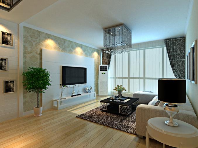 简约 欧式 三居 紫晶悦城 123平米 A1户型 客厅图片来自北京实创集团在紫晶悦城装修-123平米A1户型的分享