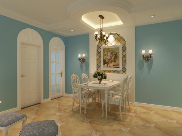 地面铺装设计师采用了地板加地砖的形式,客厅做仿古地砖加角花处理,门厅为小地砖斜铺的工艺,和客厅做一个,让狭长的门厅得以缓解