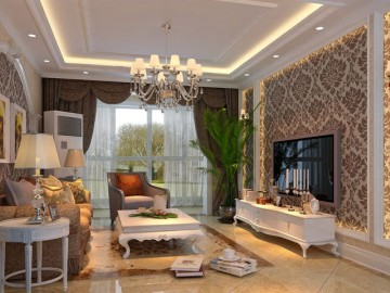 名湖豪庭131平/三居室简欧风格