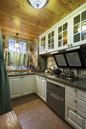 简约 田园 地中海 复式 温馨 80后 厨房图片来自孙进进在100平田园地中海复式温馨雅居的分享