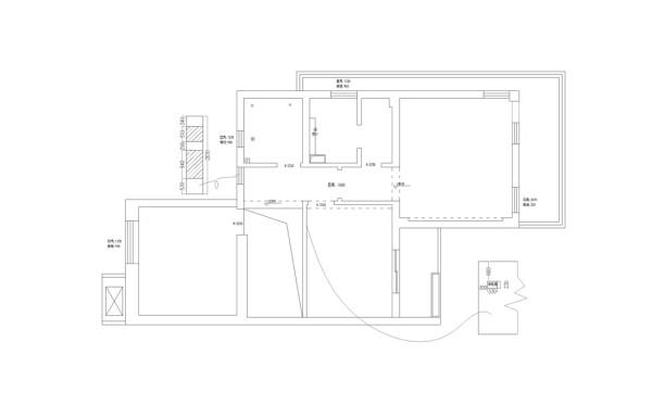 二层原始户型图