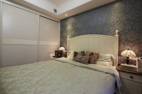 简约 田园 地中海 复式 温馨 80后 卧室图片来自孙进进在100平田园地中海复式温馨雅居的分享