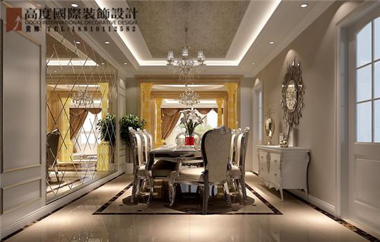 简约 欧式 三居 餐厅图片来自高度国际装饰黄帅在天润福熙大道251平简欧效果展示的分享