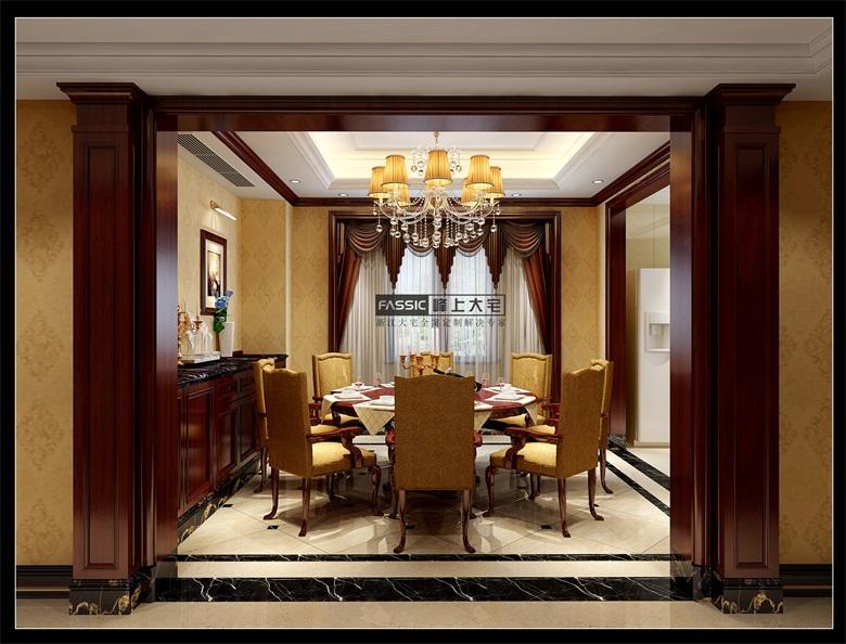 简约 欧式 别墅 白领 峰上大宅装 西溪玫瑰 餐厅图片来自建极峰上大宅装饰杭州公司在西溪玫瑰诺丁苑:不刻意的奢华的分享