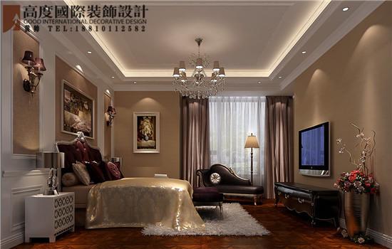 简约 欧式 三居 白领 卧室图片来自高度国际装饰黄帅在K2百合湾190平简欧设计效果展示的分享