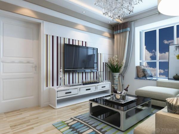 现代风格以明亮快捷的空间体验映射主人的生活习惯以及兴趣,满足其生活所需求的心理活动,这套户型采用的是极具清冷体验的冷色调布艺,地面搭配柚木地板,纹理清晰,墙面也运用了浅色乳胶漆,与地面相呼应。
