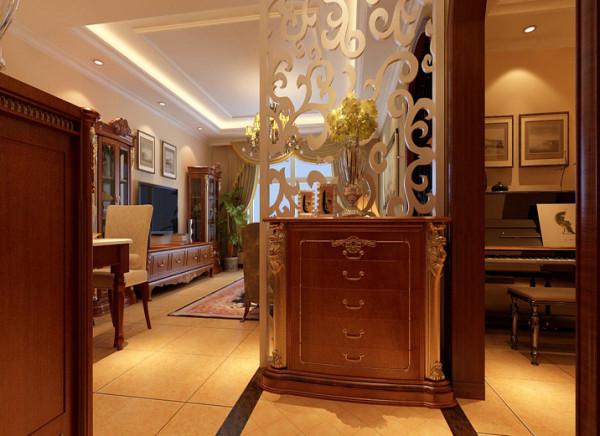 玄关 玄关,隔断 设计理念:避免入户门之间看向客厅,门厅区域不明显,增加空间感,又不遮光。